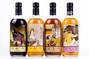 様々なボトルデザインのウイスキー軽井沢