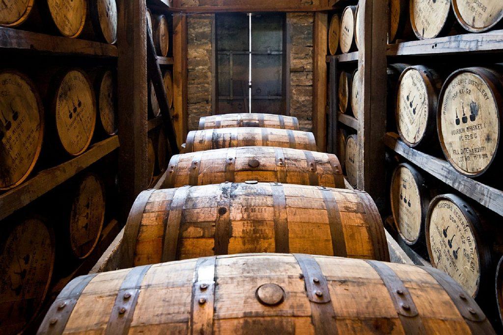 樽熟成中のウイスキー