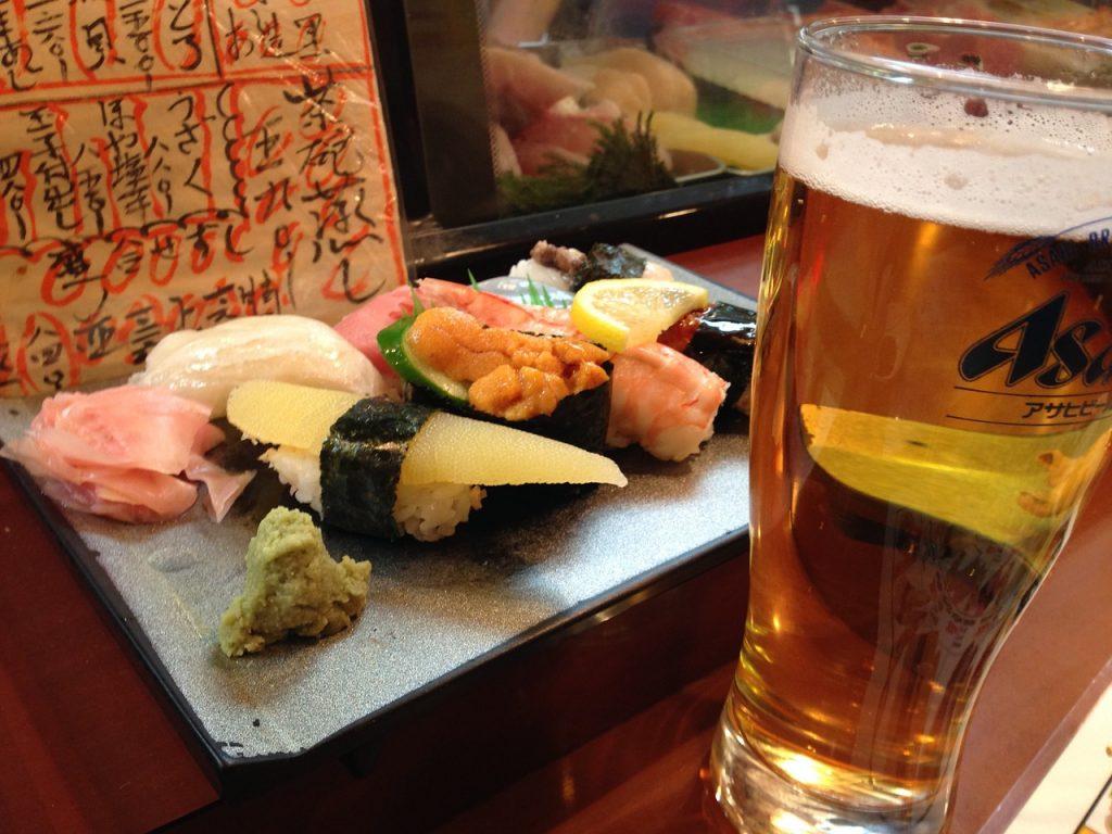 お寿司とビール