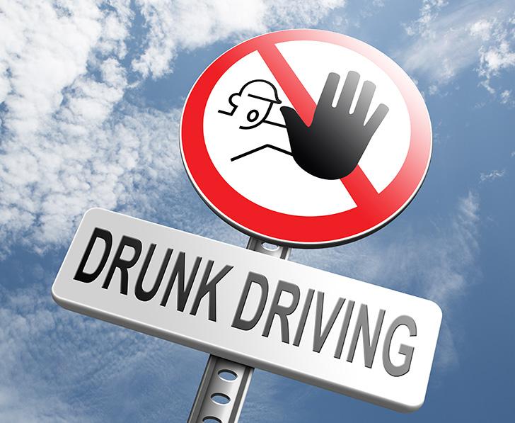 飲酒運転を警告する看板