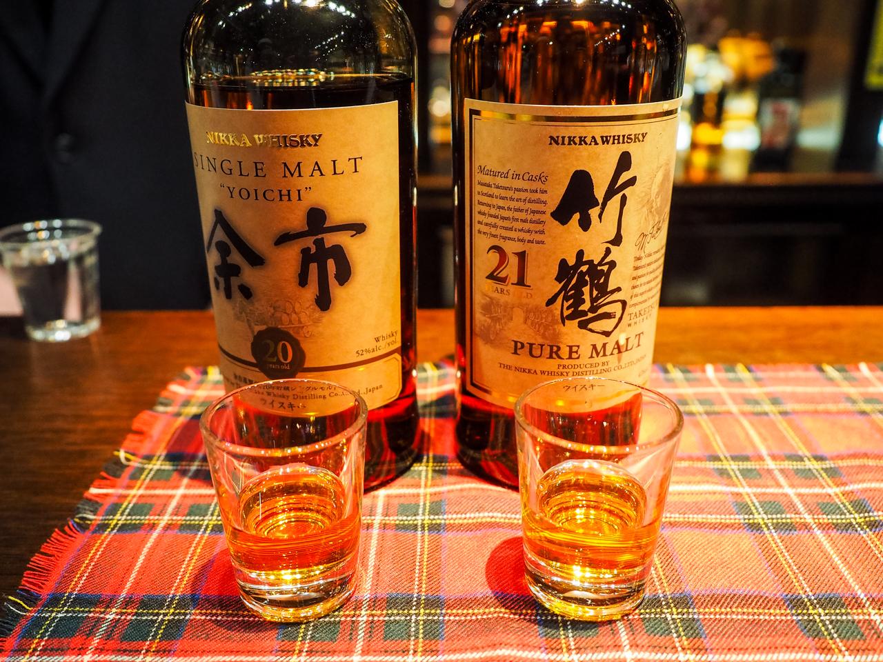 ウイスキー「竹鶴」と「余市」