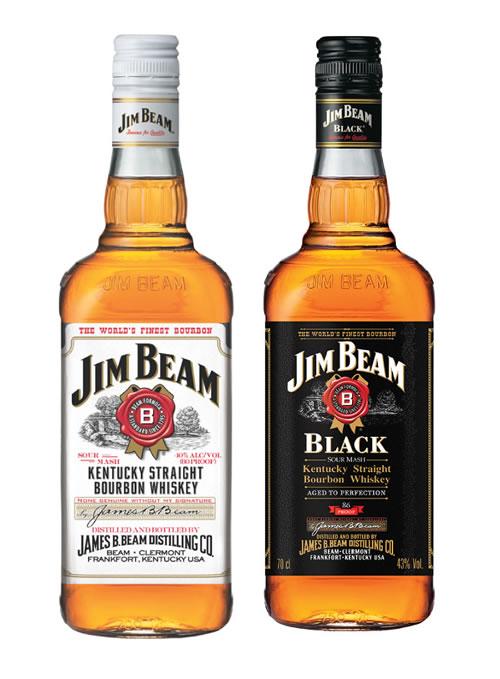 ジムビームとジムビームブラックのボトル