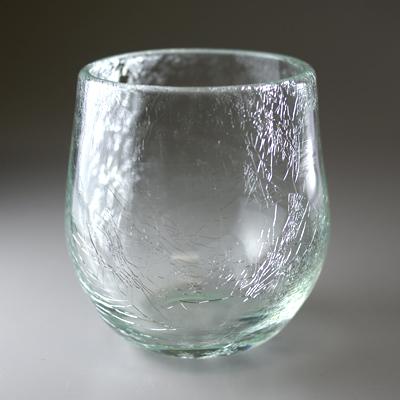 萩ガラス工房 貫入ロックグラス