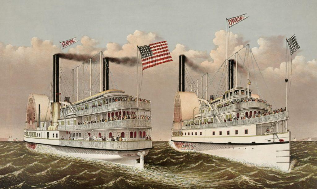 文明開化の蒸気船