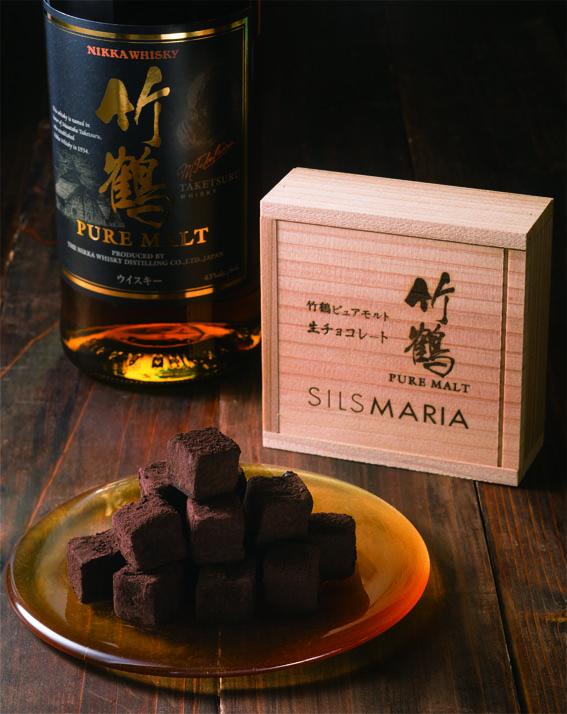 女性に食べてほしい竹鶴ピュアモルト生チョコレート