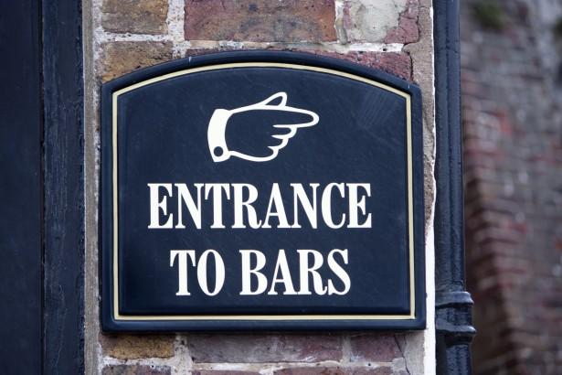 BARの入り口はわかりにくい