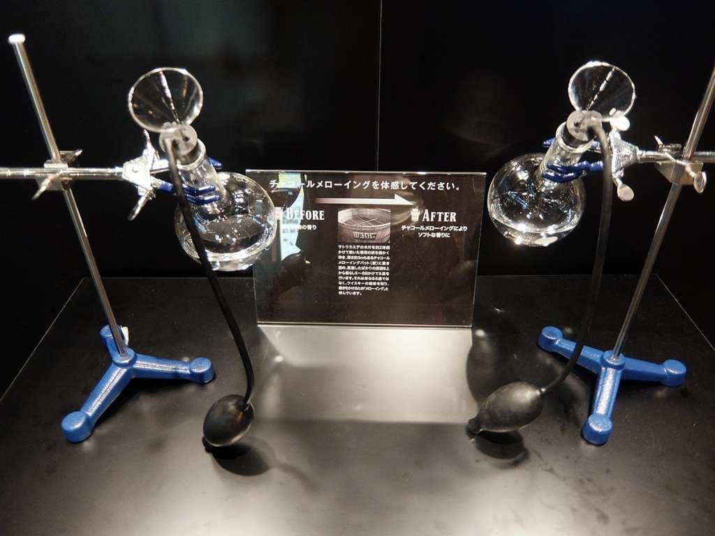 チャコール・メローイング製法を体験できる機器