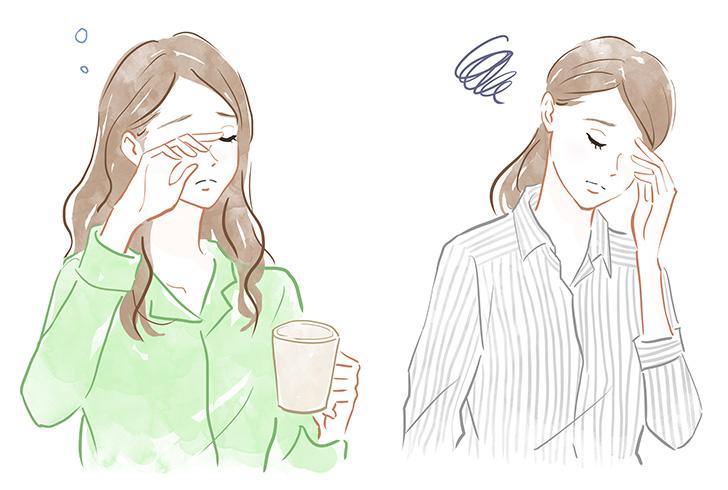 二日酔い頭痛に悩む人