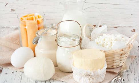 牛乳やチーズなどの乳製品