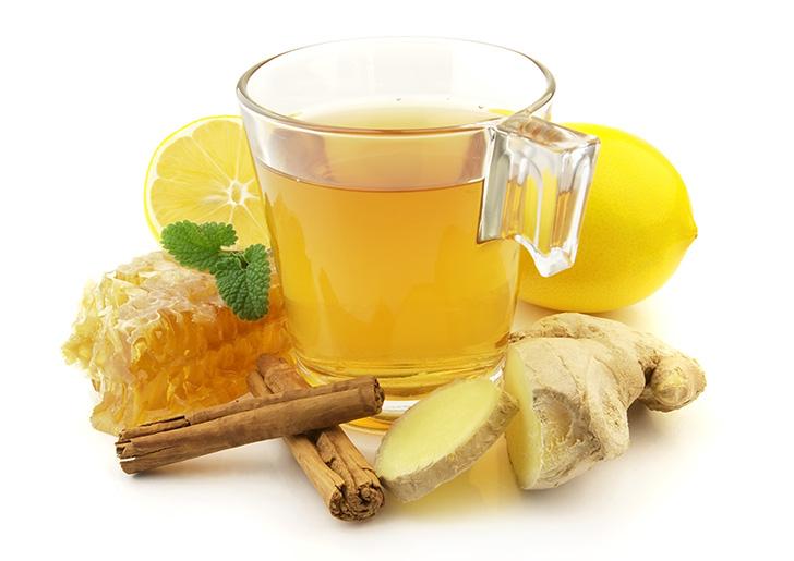 ハチミツとショウガのお茶