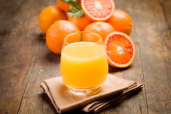 みかんやオレンジのジュース