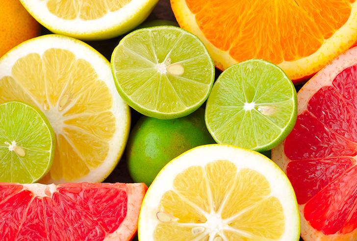 たくさんの柑橘類