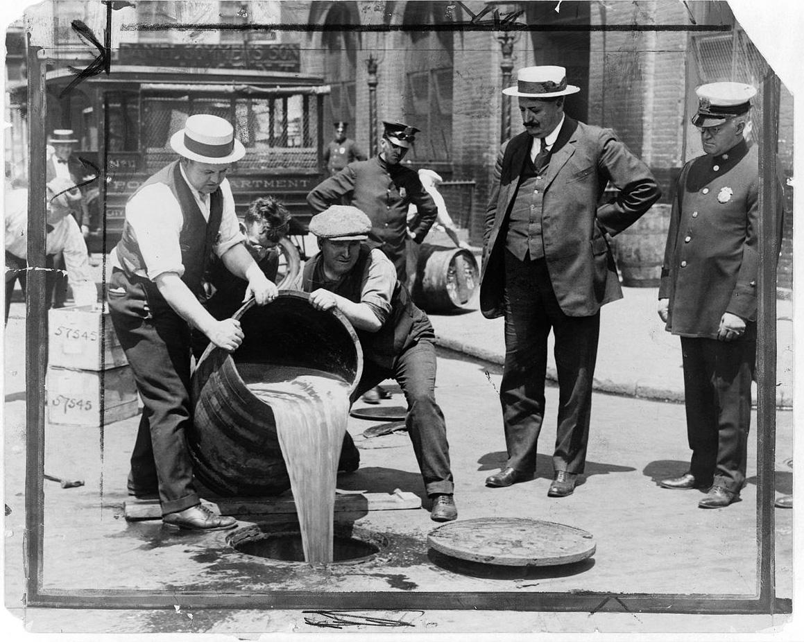 アメリカ禁酒法時代