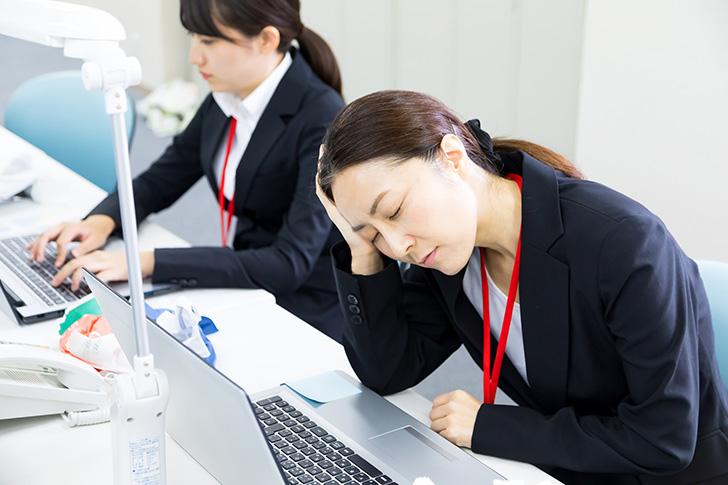 睡眠不足の人