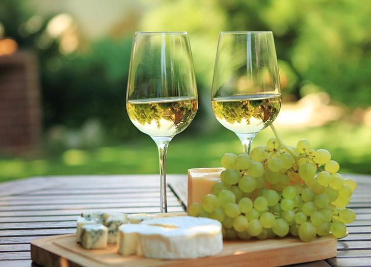 白ワインとチーズ