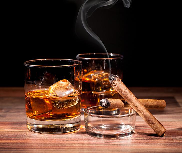 ウイスキーと葉巻(シガー)