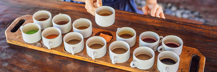 たくさんのコーヒー