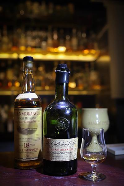 グレンモーレンジィ18年とカローデンボトル
