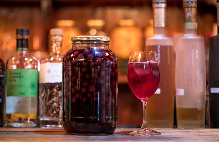 ブルーベリーの果実酒(無加糖)