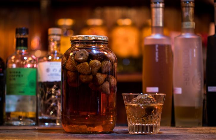 イチゴの果実酒(いちごウイスキー)