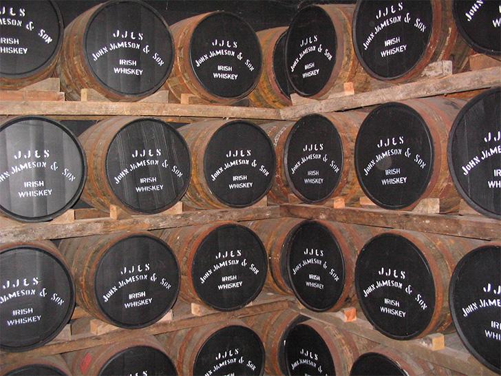 ミドルトン蒸溜所の熟成庫
