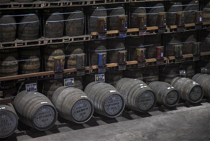 カバランのウイスキー貯蔵庫