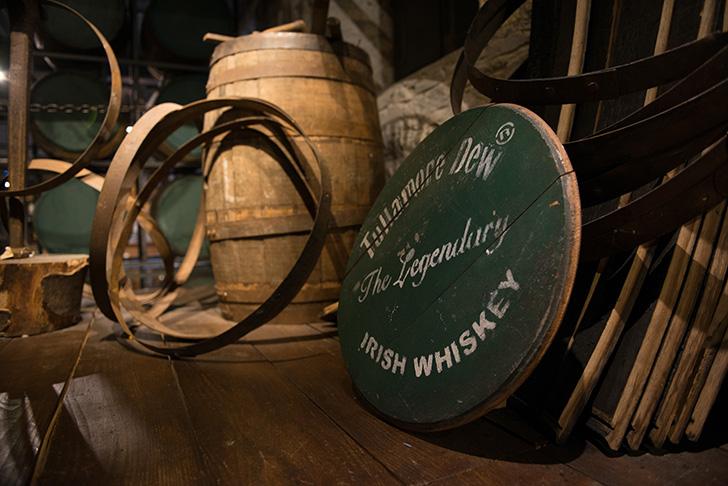 タラモアデューの木樽