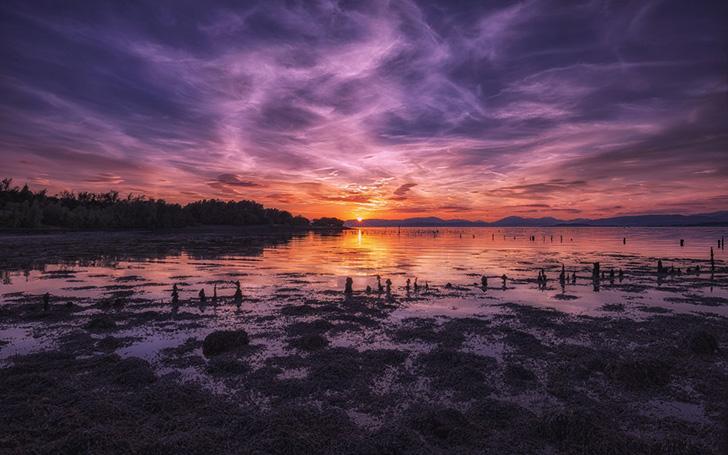 クライド湾の夕日