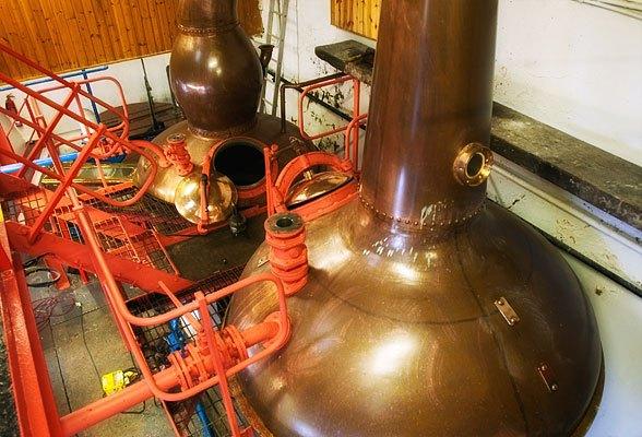 エドラダワー蒸溜所のポットスチル