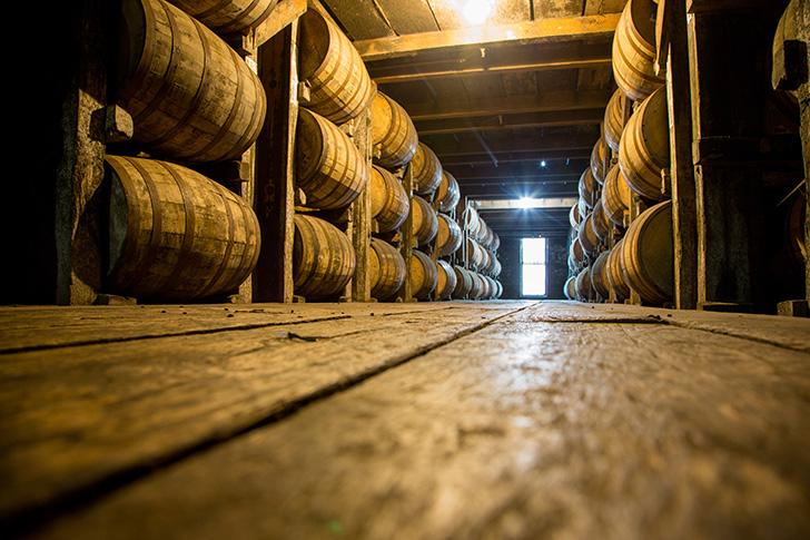 ウイスキーの熟成樽