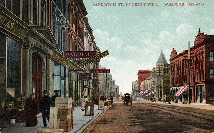 カナダのウィンザー サンドウィッチストリート