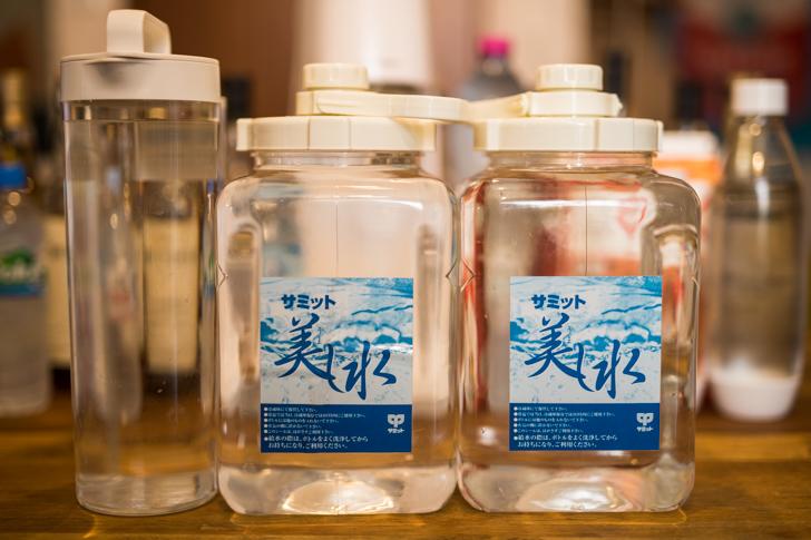 水道水でもおいしいが、飲みなれた水が一番