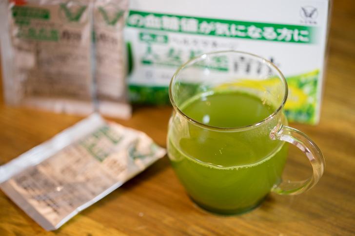 ヘルスマネージ大麦若葉青汁をホットで作る