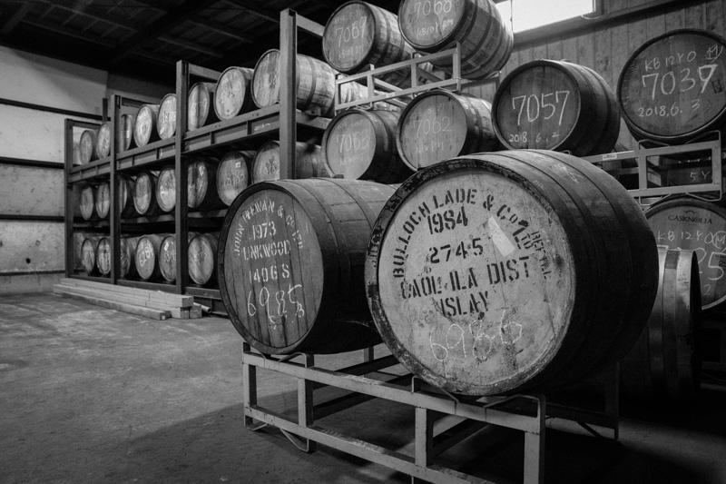 笹の川酒造の様々な樽