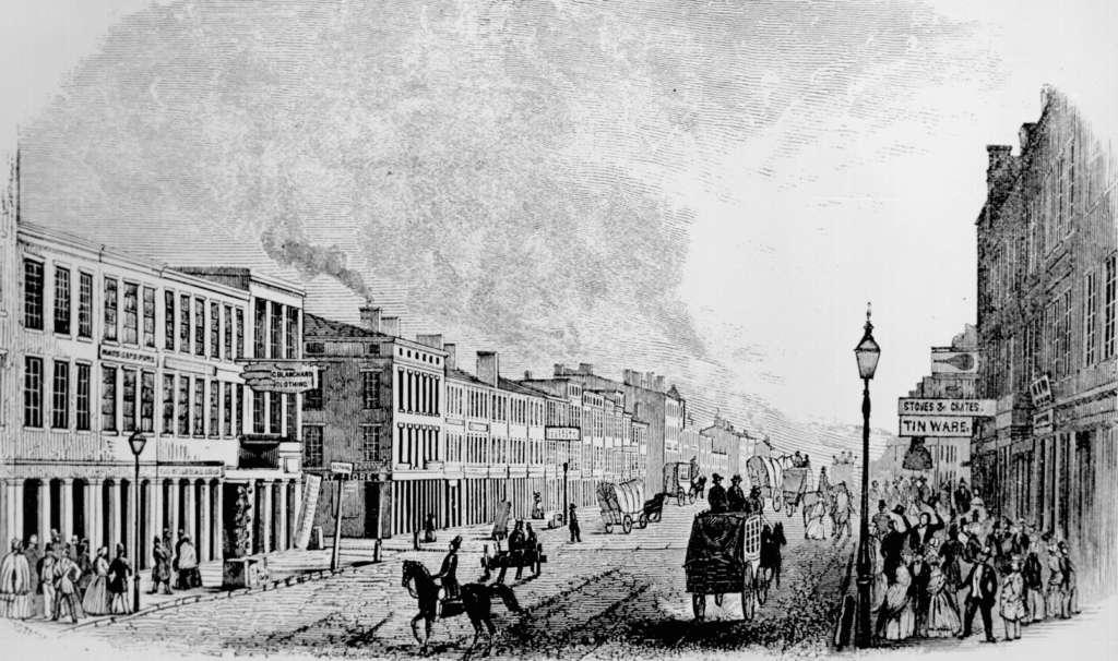 1846年のルイヴィルの街