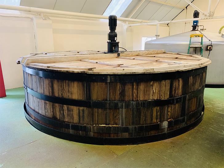 ベンネヴィス蒸溜所の発酵槽