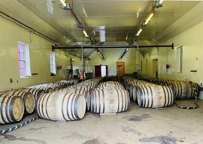 グレンロセス蒸溜所の樽