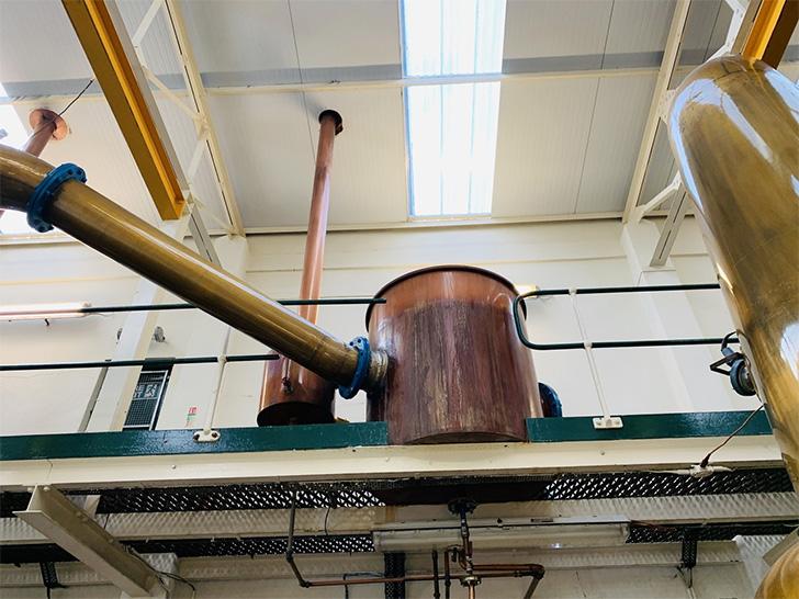 グレングラント蒸溜所の精溜器