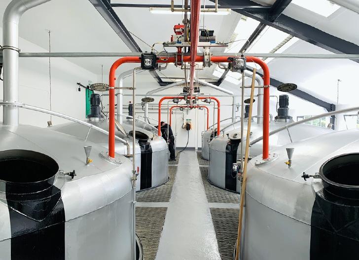 グレンアラヒー蒸溜所の発酵槽