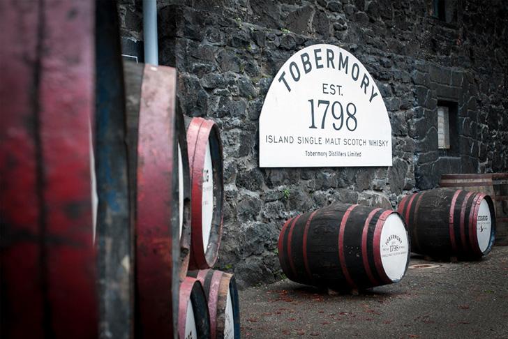 トバモリー蒸留所の樽