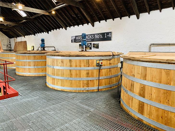 キルケランがつくられているグレンガイル蒸溜所の発酵槽