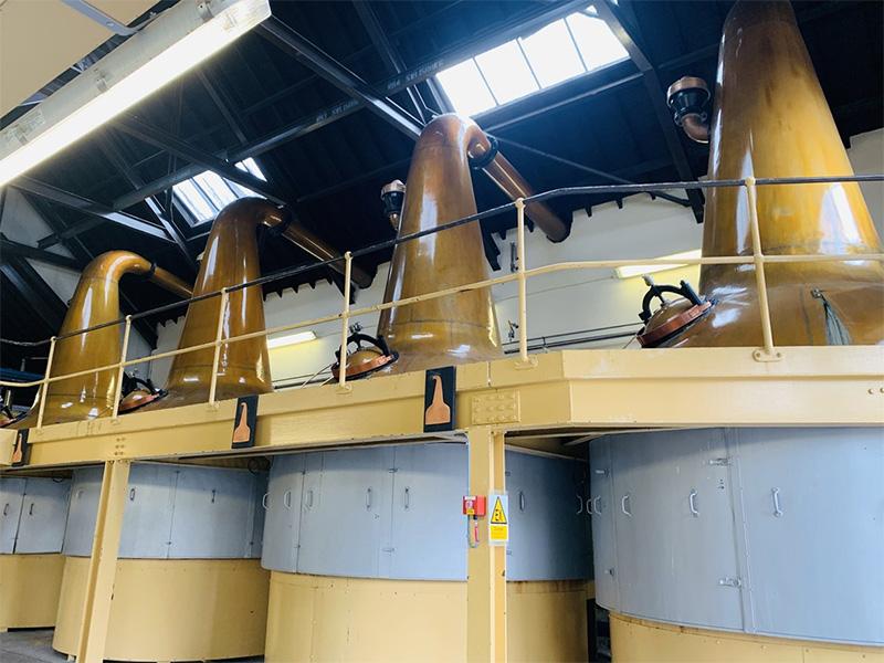 ロングモーン蒸溜所のポットスチル