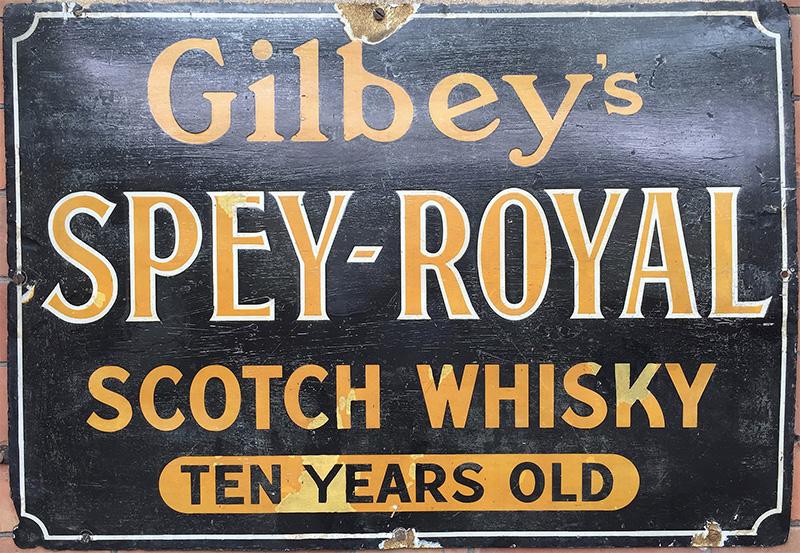 ギルビー社のスペイロイヤルの看板