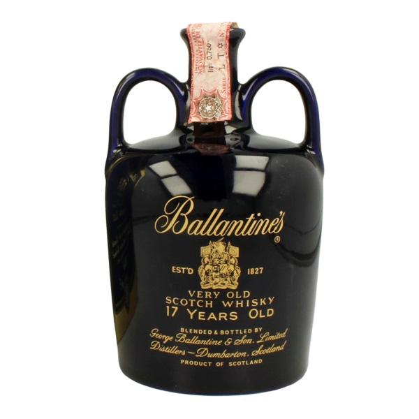 バランタイン17年 セラミックデキャンタ(黒陶器)